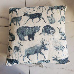 Woodland Animals Square Throw Pillow Threshold